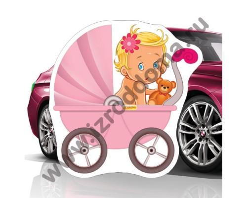 Малышка в коляске (30х30см) магнит