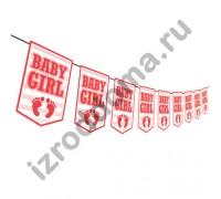 флажки BABY BOY на выписку дочки