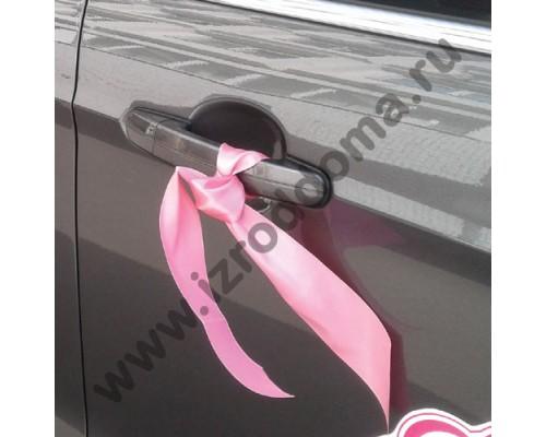 Ленточки на ручки дверей розовые