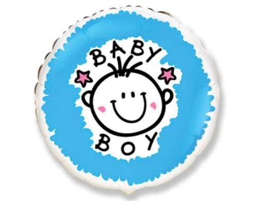 """Фольгированный шарик с гелием """"Baby Boy"""" 46 см"""