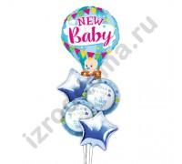 Букет из шариков с гелием Малыш на воздушном шаре