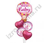 Букет из шариков с гелием Малышка на воздушном шаре