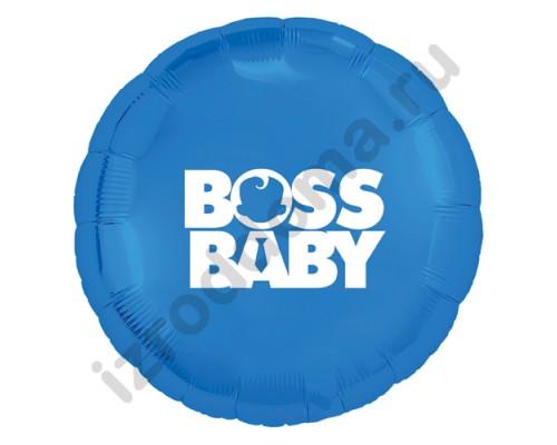 Воздушный шар Baby Boss на рождение мальчика