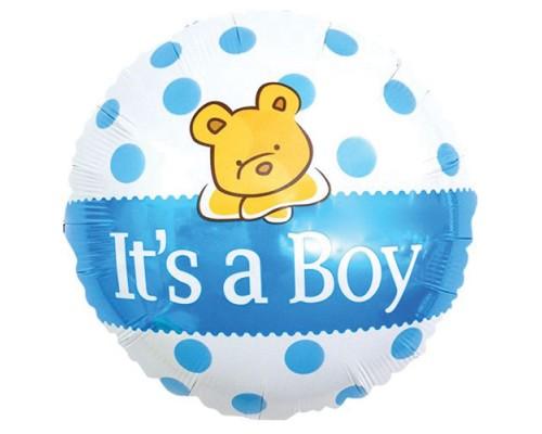 """Фольгированный шарик с гелием """"Это мальчик"""" its a boy 46см"""