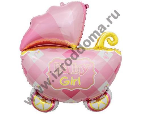"""Фольгированный шар с гелием фигура """"Коляска малышки"""" 89 см"""