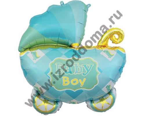 """Фольгированный шар с гелием фигура """"Коляска малыша"""" 89 см"""