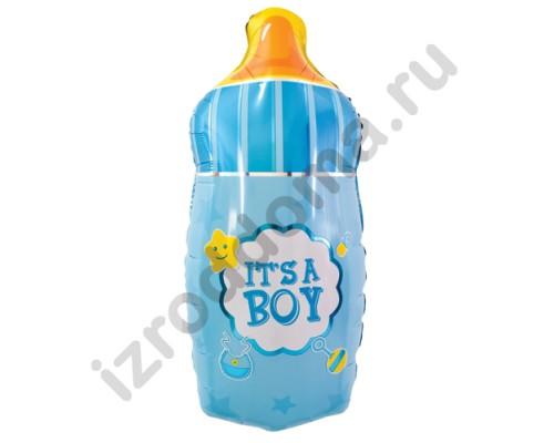 """Фольгированный шар с гелием фигура """"Бутылочка малыша"""" 74 см"""